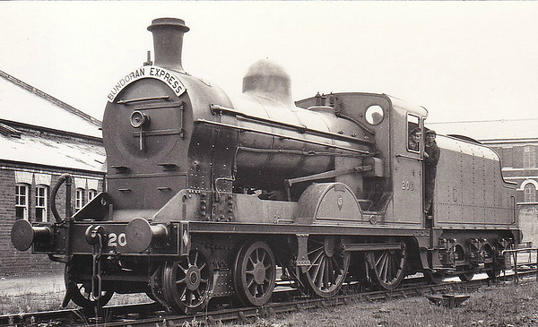Class U - 205 DOWN - GNR(I) 4-4-0 - built 1948 by Beyer Peacock - 1958 to UTA as 68 - withdrawn 1965 - seen here at Dundalk in June 1954.