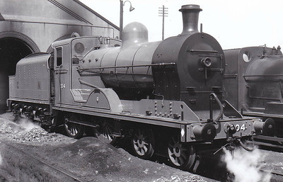 Class U - 204 ANTRIM - GNR(I) 4-4-0 - built 1948 by Beyer Peacock - 1958 to CIE as 204N - withdrawn 1963 - seen here at Dundalk in April 1951.