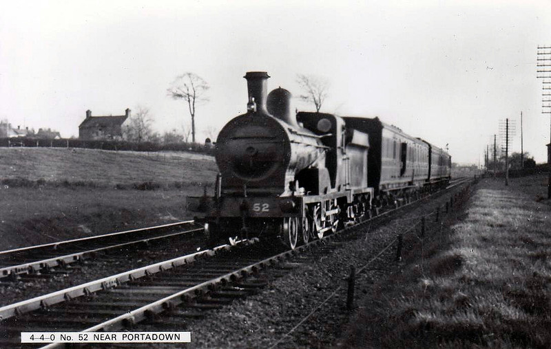 Class P -  52 SNOWDROP - GNR(I) 4-4-0 - built 1892 by Beyer Peacock - 1923 rebuilt as Class Ps - withdrawn 1950 - seen here near Portadown.