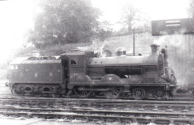 Class U - 201 MEATH - GNR(I) 4-4-0, built 1948 by Beyer Peacock - 1958 to UTA as No.66 - withdrawn 1965.