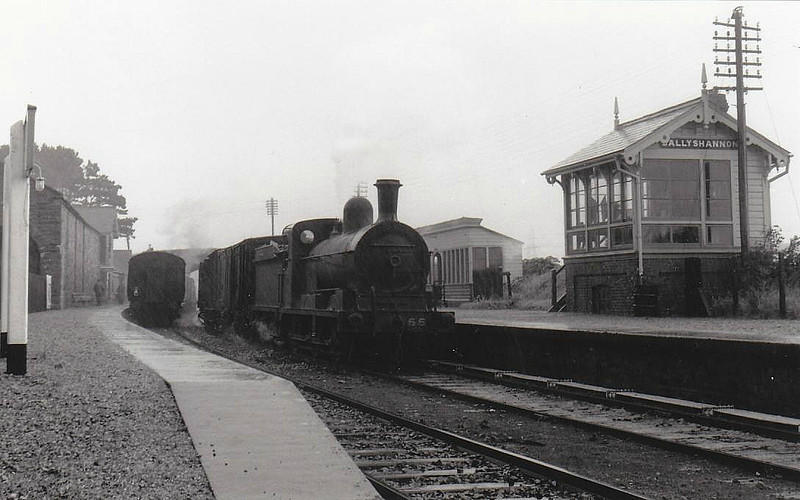 Class AL - 55 PORTADOWN - GNR(I) 0-6-0, built 1895 by Adelaide Works - 1958 to CIE as No.55N - withdrawn 1961 - seen here at Ballyshannon.