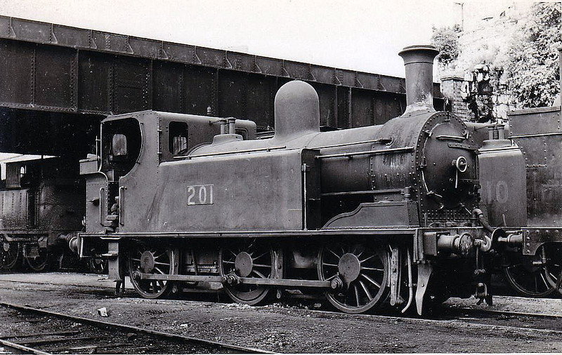 Class J11 - 201 - GS&WR Class 207 0-6-0T, built 1895 by Inchicore Works - 1925 to GSR, 1945 to CIE - withdrawn 1963.