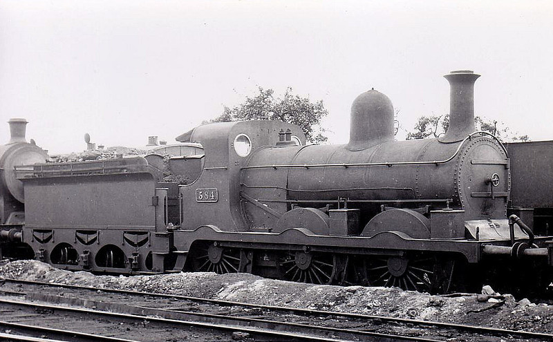 Class J18 - 584 - M&GWR Class Lm 0-6-0, built 1895 by Sharp Stewart as M&GWR No.130 AJAX - 1925 to GSR as No.584, 1937 rebuilt with Belpaire boiler, 1945 to CIE - withdrawn 1955.