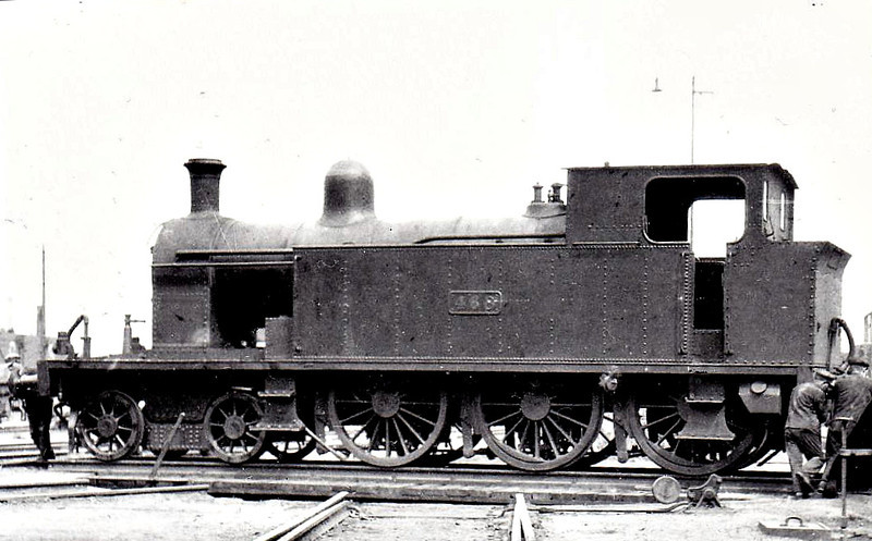 Class B 4 - 468 - CB&SCR 4-6-0T - built 1910 by Beyer Peacock as CB&SCR No.15 - 1925 to GSR as No.468, 1944 rebuilt with Belpaire boiler, 1945 to CIE, 1948 rebuilt with round topped boiler, 1950 rebuilt with Belpaire boiler - withdrawn 1963 - seen here at Cork in 1932.