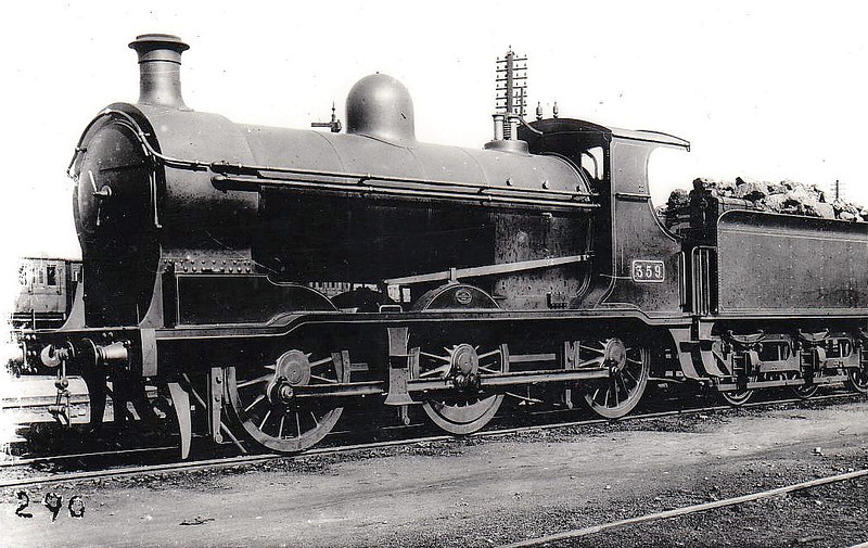 Class J 9 - 359 - GS&WR Class 355 0-6-0, built 1903 by North British Loco Co. - 1907 rebuilt as 2-6-0, 1921 rebuilt with Belpaire boiler, 1925 to GSR, 1930 rebuilt, 1934 rebuilt, 1945 to CIE - withdrawn 1959.