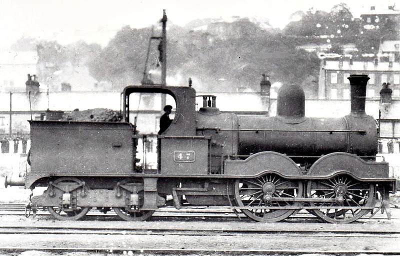Class E 3 - 47 - GS&WR 0-4-4T, built 1883 by Inchicore Works - 1925 to GSR, 1945 to CIE - withdrawn 1945 - seen here at Cork in 1932.
