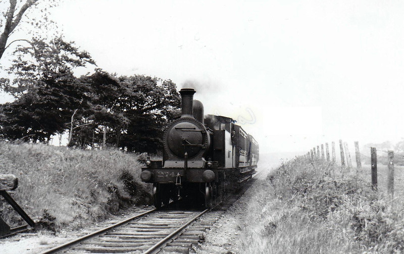 Class C 5 - 274 - WL&WR 4-4-2T - built 1897 by Kitson & Co. as WL&WR No.21 BLARNEY CASTLE - 1925 to GSR as No.274 - 1924 rebuilt, 1925 to GSR, 1945 to CIE - withdrawn 1949 - seen here near Skibbereen on a Drimoleague - Baltimore train, 1938.