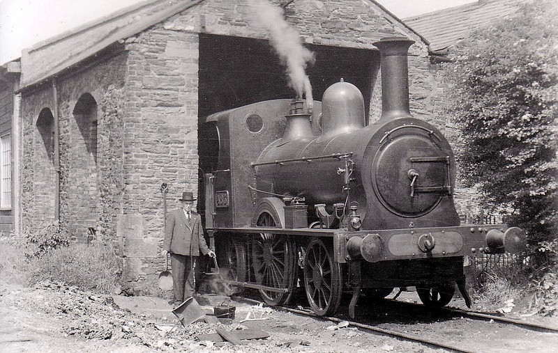 Class N 1 - 483 - WTR 2-2-2WT, built 1855 by W Fairbairn as Waterford & Tramore Railway No.1 - 1925 to GSR as No.483 - withdrawn 1936 - seen here at Tramore in 1932.