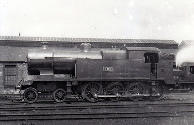 Class A 1 - 900 - GS&WR Class 900 4-8-0T - built 1915 by Inchicore Works as GWSR No.900 - 1925 to GSR - withdrawn 1928.