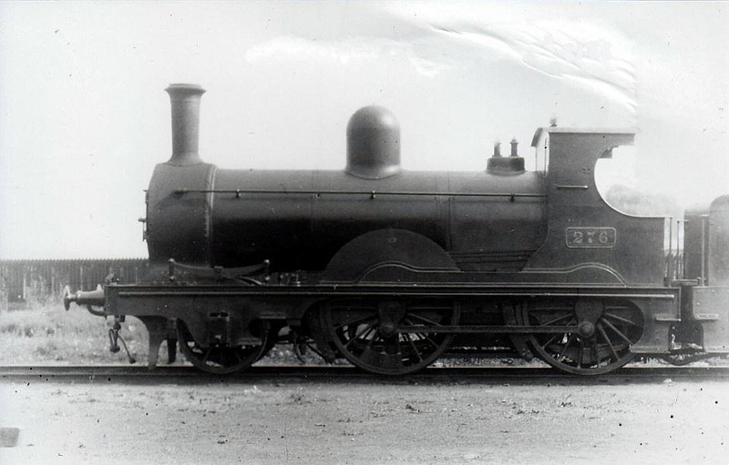 Class G 3 - 276 - WL&WR 2-4-0 - built 1892 by Dubs & Co. as WL&WR No.23 SLIEVE-NA-MON - 1900 to GS&WR as No.276 - 1925 to GSR, 1925 rebuilt, 1945 to CIE - withdrawn 1949 - seen here at Limerick in 1932.