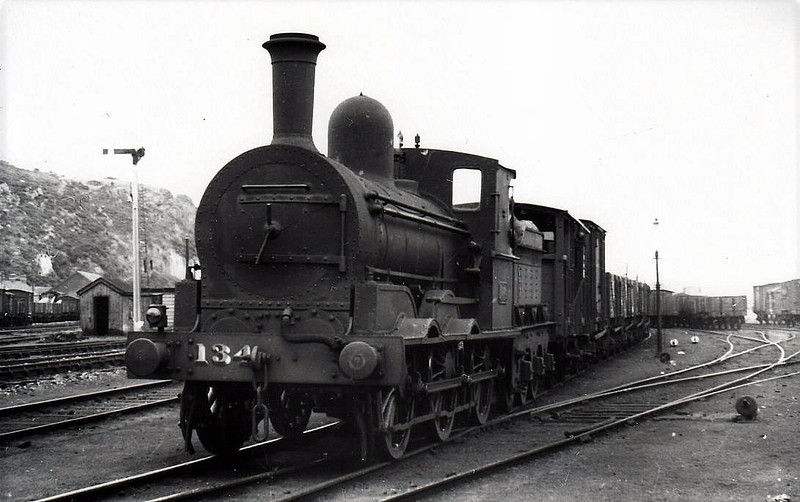Class J15 - 134 - GS&WR Class 101 0-6-0 - built 1885 by Inchicore Works - 1922 rebuilt, 1925 to GSR, 1945 to CIE - withdrawn 1962 - seen here at Wexford in 1938.