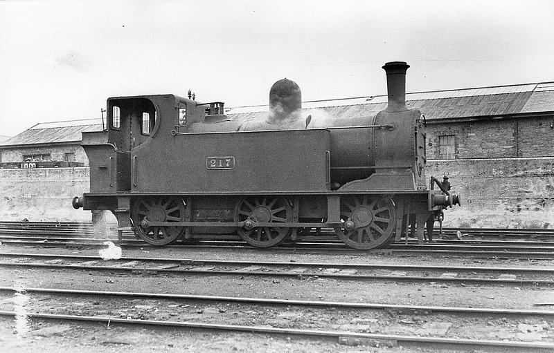 Class J11 - 217 - GSWR Class 207 0-6-0T - built 1901 by Inchicore Works - 1925 to GSR as Class 201, 1945 to CIE - 1961 withdrawn.
