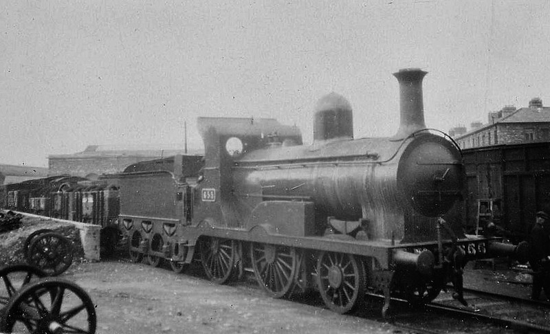 Class G 2 - 655 - M&GWR Class K 2-4-0, built 1897 by Broadstone Works as M&GWR No.29 CLONSILLA - 1925 to GSR, 1926 rebuilt with round topped boiler, 1941 rebuilt with Belpaire boiler, 1945 to CIE, 1954 rebuilt with round topped boiler - withdrawn 1961.
