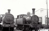Class F 4 - 267 - WL&WR 2-4-2T - built 1891 by Vulcan Foundry as WL&WR No.14 LOUGH DERG - seen here withdrawn at Inchicore, 06/38, with Class 101 0-6-0 No.175.