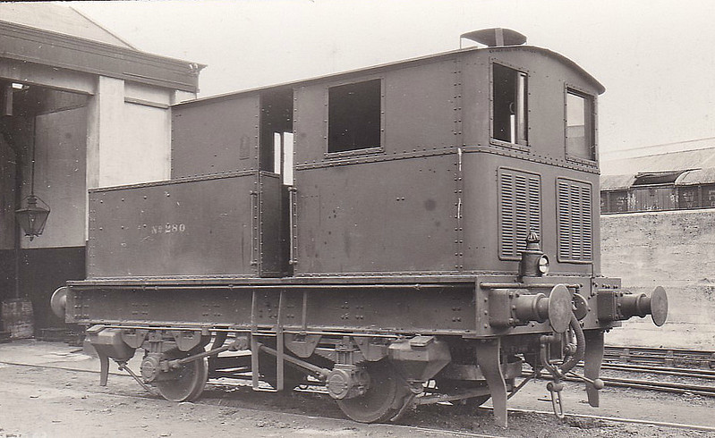 Class M1 - 280 - Sentinel GSR 0-4-0VBT - built 1927 by Sentinel Waggon Works Ltd. as GSR No.1 - 1927 to GSR No.280 - 1945 to CIE - 1948 withdrawn.