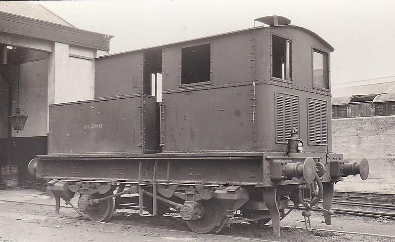 Class M1 - 280 - Sentinel GSR 0-4-0VBT - built 1927 by Sentinel Waggon Works Ltd., Works No.6846, as GSR No.1 - 1927 to GSR No.280 - 1945 to CIE - 1948 withdrawn.