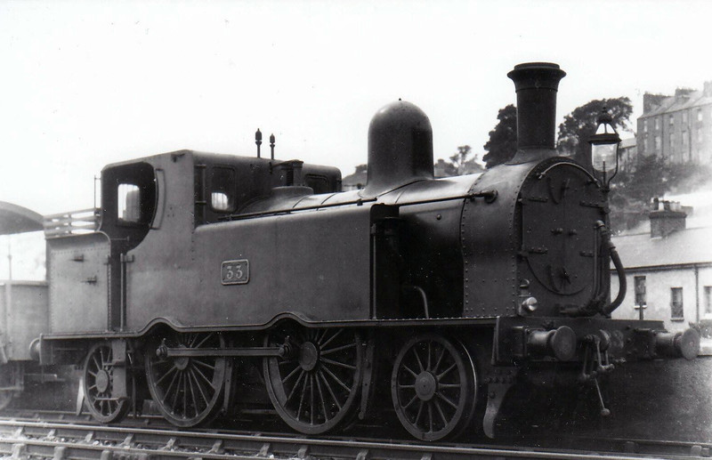 Class F 6 - 33 - GS&WR Class 42 2-4-2T - built 1892 by Inchicore Works - 1925 to GSR, 1945 to CIE - withdrawn 1957 - seen here at Cork in 1932.