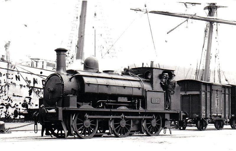 Class J23 - 475 - CB&SCR 0-6-0ST - built 1887 by Beyer Peacock as CB&SCR No.5 - 1925 to GSR as No.475 - withdrawn 1939 - seen here sunting in Cork Docks.