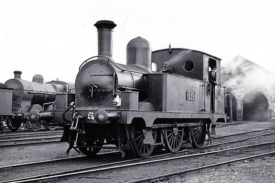 Class J26 - 554 - Atock M&GWR Class E 0-6-0T - built 1891 by Sharp Stewart & Co., Works No.3693, as M&GWR No.109 FLY - 1925 to GSR as No.556, 1945 to CIE - withdrawn 1960 - seen here at Broadstone in August 1935.