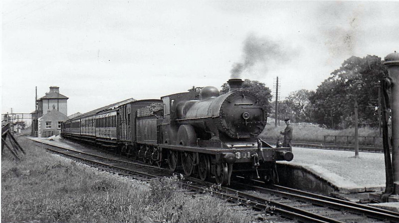 Class D11 - 301 - GS&WR Class 301 4-4-0 - built 1900 by Inchicore Works - 1925 to GSR, 1931 rebuilt, 1945 to CIE - withdrawn 1960.