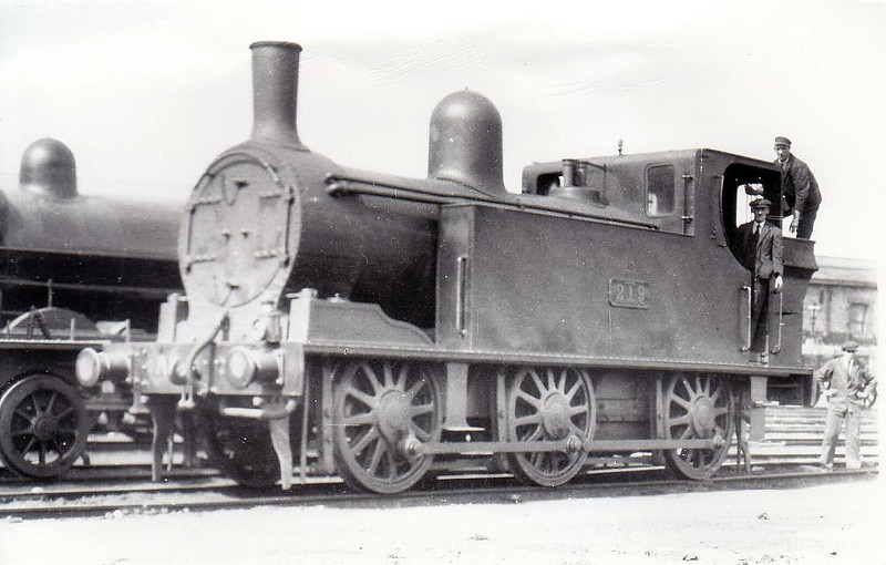 Class J11 - 219 - G&SWR Class 207 0-6-0T - built 1901 by Inchicore Works - 1925 to GSR, 1945 to CIE - withdrawn 1955 - seen here at Limerick in 1932.