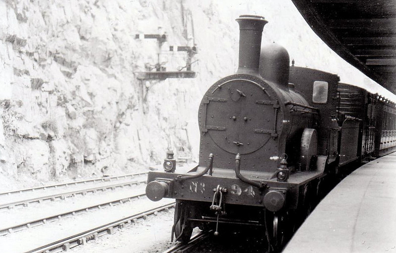 Class D14 - 94 - GS&WR Class 60 4-4-0, built 1885 by Inchicore Works - 1925 to GSR, 1934 rebuilt with Belpaire boiler, 1945 to CIE - withdrawn 1959 - seen here at Waterford in 1932.