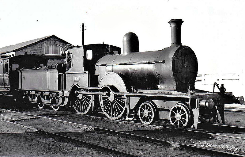 Class D14 - 95 - GS&WR Class 60 4-4-0, built 1885 by Inchicore Works - 1925 to GSR, 1941 rebuilt with Belpaire boiler, 1945 to CIE - withdrawn 1955.