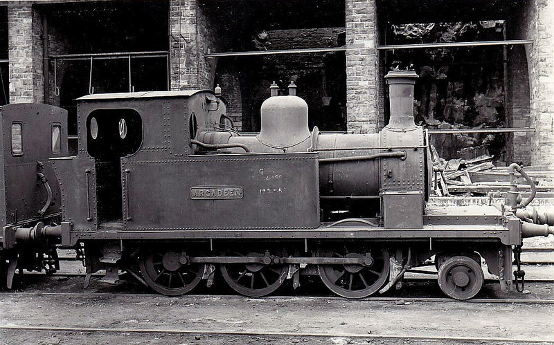 Class K 5 - ARGADEEN - 2-6-0T, built 1894 by Hunslet Engine Co. for Timoleague & Courtmacsherry Light Railway - 1925 to GSR, 1929 rebuilt, 1945 to CIE - withdrawn 1957 - seen here at Cork.
