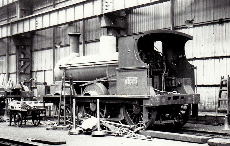 Class J15 - 152 - GS&WR Class 101 0-6-0 - built 1868 by Beyer Peacock - 1901 rebuilt, 1925 to GSR, 1945 to CIE - withdrawn 1959 - seen here in Inchicore Works, 1938.
