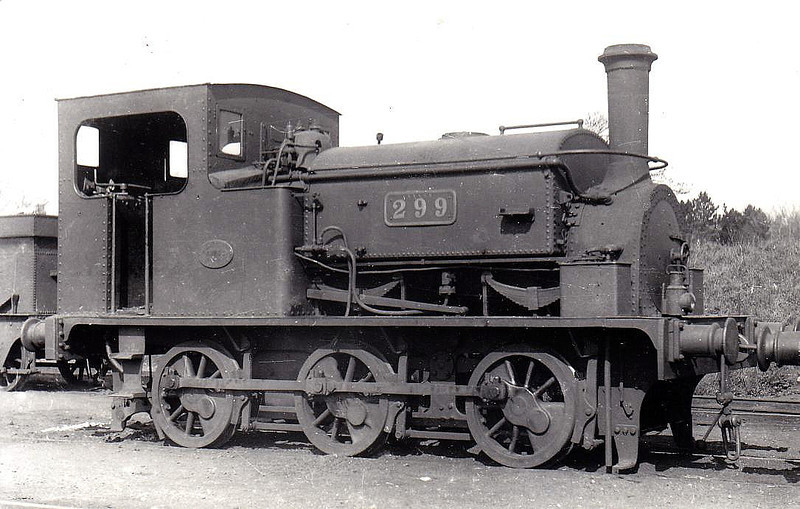 Class J28 - 299 - 0-6-0ST, built 1892 by Hunslet Engine Co. as Tralee & Fenit Harbour Commisioners SHAMROCK - 1900 to GS&WR No.299, 1925 to GSR, 1945 to CIE - withdrawn 1957.