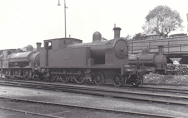 Class B 4 - 468 - CB&SCR 4-6-0T - built 1910 by Beyer Peacock as CB&SCR No.15 - 1925 to GSR as No.468, 1944 rebuilt with Belpaire boiler, 1945 to CIE, 1948 rebuilt with round topped boiler, 1950 rebuilt with Belpaire boiler - withdrawn 1963.