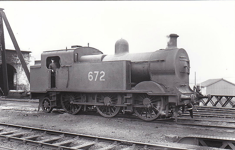 Class I3 - 672 - GSR Class 670 0-6-2T - built 1933 by Inchicore Works - 1945 to CIE - 1959 withdrawn.