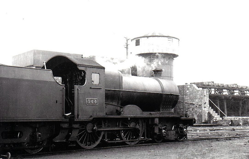 Class D 4 - 344 - GSR Class 342 4-4-0 - built 1936 by Inchicore Works - 1945 to CIE - withdrawn 1959 - seen here at Inchicore in 1938.