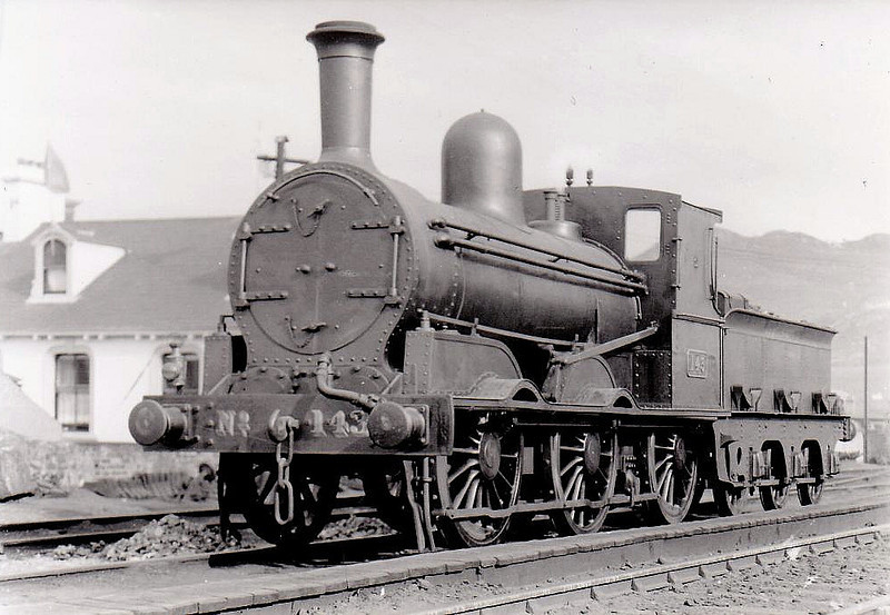 Class J15 - 143 - GS&WR Class 101 0-6-0, built 1877 by Inchicore Works - 1906 rebuilt, 1925 to GSR, 1936 rebuilt with Belpaire boiler, 1945 to CIE - withdrawn 1959 - seen here at Bray in 1932.