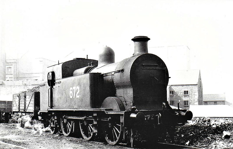 Class I3 - 672 - GSR Class 670 0-6-2T,  built 1933 by Inchicore Works - 1945 to CIE - withdrawn 1959 - seen here at Dublin Grand Canal Street in 06/38.