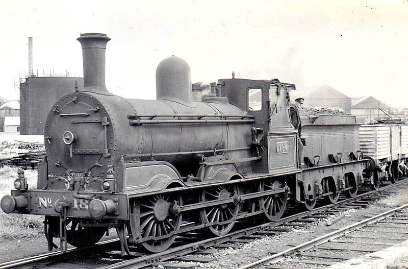 Class J15 - 184 - GS&WR Class 101 0-6-0, built 1880 by Inchicore Works - 1925 to GSR, 1945 to CIE - withdrawn 1962 - seen here at Inchicore Works.