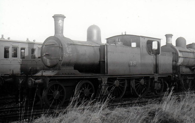Class C 5 - 274 - WL&WR 4-4-2T - built 1897 by Kitson & Co. as WL&WR No.21 BLARNEY CASTLE - 1925 to GSR as No.274 - 1924 rebuilt, 1925 to GSR, 1945 to CIE - withdrawn 1949.