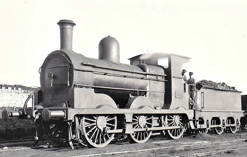 Class J19 - 600 - M&GWR Class L 0-6-0 - built 1887 by Broadstone Works as M&GWR No.61 LYNX - 1913 rebuilt with Belpaire boiler, 1925 to GSR as No.600, 1945 to CIE, 1950 rebuilt with superheated Belpaire boiler - withdrawn 1957.