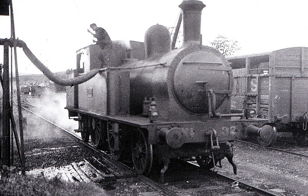 Class F2 - 432 - Wakefield Dublin, Wicklow & Wexford Railway 2-4-0T - built 1886 by Grand Canal Street Works as DW&WR No.45 ST KIERNAN - 1910 rebuilt as 2-4-2T - 1925 to GSR, 1945 to CIE - 1957 withdrawn - seen here at Skibbereen on June 1934.