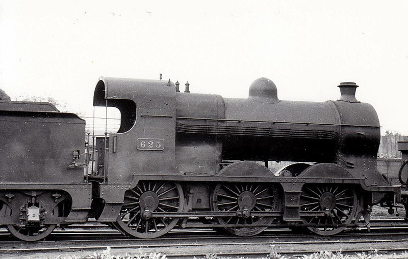 Class J 5 - 625 - M&GWR Class Fa 0-6-0 - built 1924 by Broadstone Works - 1925 to GSR, 1945 to CIE - withdrawn 1961 - seen here at Broadstone in 1938.