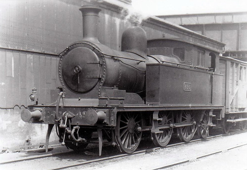 Class I 2 - 490 - Cork & Macroom Direct Railway 0-6-2T - built 1904 by Andrew Barclay as C&MDR No.5 - 1925 to GSR as No.490 - withdrawn 1935 - seen here at Cork Rocksavage in 1932.