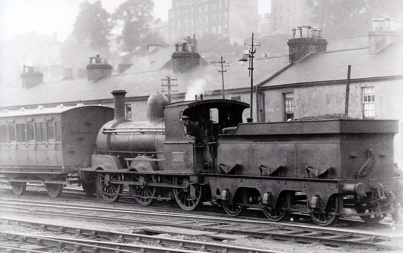 Class J15 - 130 - GS&WR Class 101 0-6-0 - built 1882 by Inchicore Works - 1902 rebuilt, 1925 to GSR, 1945 to CIE, 1947 rebuilt with Belpaire boiler - withdrawn 1965 - seen here at Cork in 1932.
