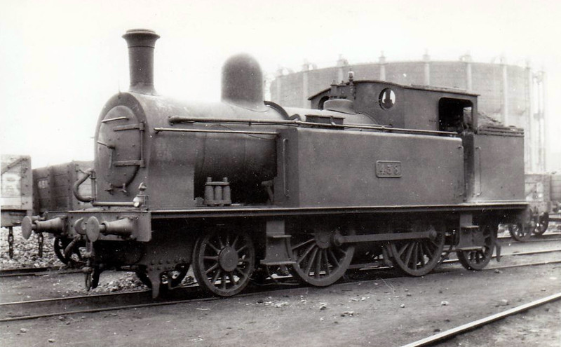 Class F 1 - 438 - D&SER 2-4-2T - built 1909 by Grand Canal Street Works as No.30 ST IBERIUS - 1925 to GSR as No.438 - 1930 rebuilt with round top boiler, 1933 rebuilt with Belpaire boiler, 1937 rebuilt with round top bolier, 1945 to CIE - withdrawn 1952.