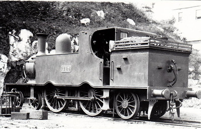 Class C 7 - 317 - GS&WR Class 37 4-4-2T, built 1901 by Inchicore Works - 1925 to GSR, 1945 to CIE - withdrawn 1955 - seen here at Cork Rocksavage in 1932.