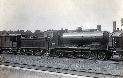 355 - GSWR Class 355 0-6-0 - built 1903 by North British Loco Co. - 1907 rebuilt as 2-6-0, 1914 rebuilt with Belpaire boiler, 1925 to GSR - withdrawn 1928.