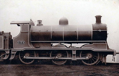 355 - GSWR Class 355 0-6-0 - built 1903 by North British Loco Co. - 1907 rebuilt as 2-6-0, 1914 rebuilt with Belpaire boiler, 1925 to GSR - withdrawn 1928 - builders picture.