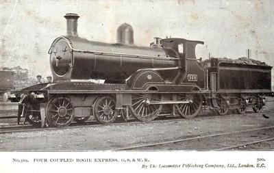 309 - GSWR Class 309 4-4-0, built 1903 by Neilson Reid & Co. - 1913 rebuilt as Class 321, 1925 to GSR as Class D4, 1935 rebuilt with Belpaire boiler, 1945 to CIE - withdrawn 1959.