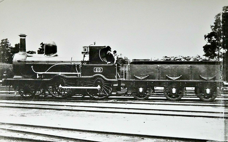 60 - McDonnell GSWR Class 56 2-4-0 - built 1870 by Inchicore Works - 1891 withdrawn.