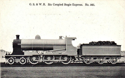 365 - GSWR Class 362 4-6-0 - built 1905 by Inchicore Works - 1925 to GSR as Class B3 - withdrawn 1928.