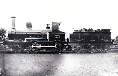 21 - McDonnell Class 21 2-4-0 - built 1873 by Inchicore Works - 1925 to GSR - 1945 to CIE - 1945 withdrawn.